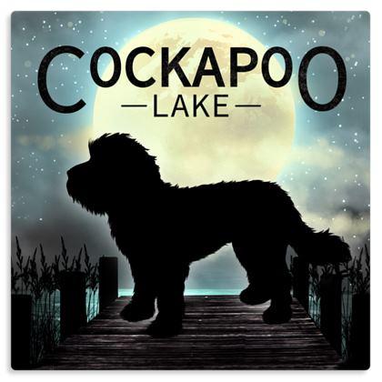 COCKAPOO LAKE METAL PRINT