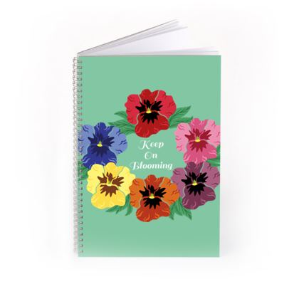 Keep On Blooming [Light Mint] Notebook
