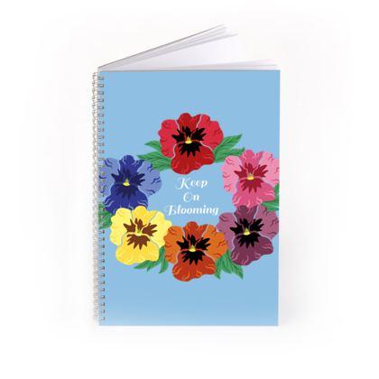Keep On Blooming [Sky Blue] Notebook