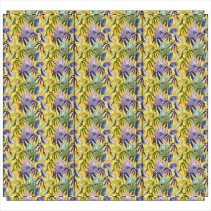 Folding Screen Yellow, Mauve  Passionflower  Radiance