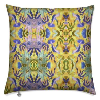 Cushions Yellow Floral  [50 cm shown]  Passionflower  Radiance