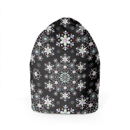 Lacy Snowflakes Beanie