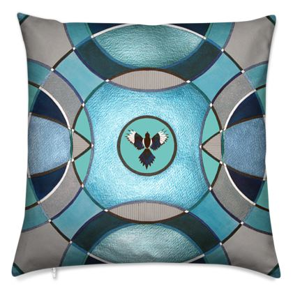 Magpie Velvet Cushion