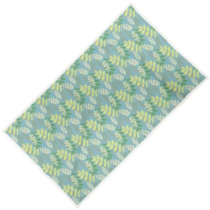 Towels Green, Floral  Maxi adult shown  Etched Leaves   Green Glade