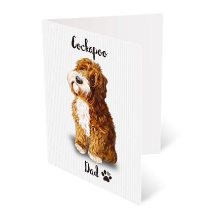 RED TUXEDO COCKAPOO FATHERS DAY CARD