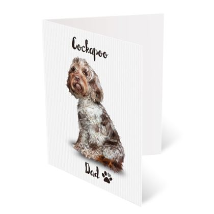 CHOCOLATE MERLE FATHERS DAY CARD