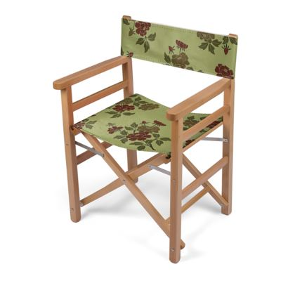 Directors Chair - Japanese flowers and leaves pattern Remaster