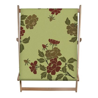 Double Deckchair - Japanese flowers and leaves pattern Remaster
