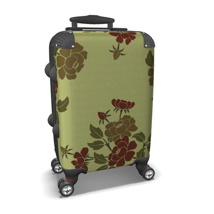 Suitcase - Japanese flowers and leaves pattern Remaster