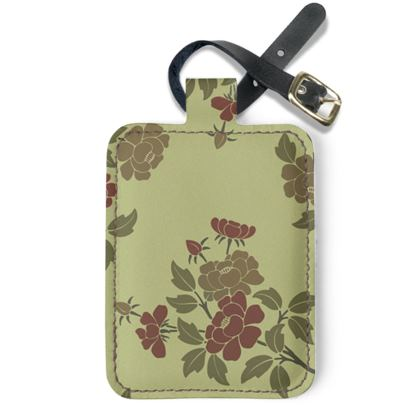 Luggage Tags - Japanese flowers and leaves pattern Remaster