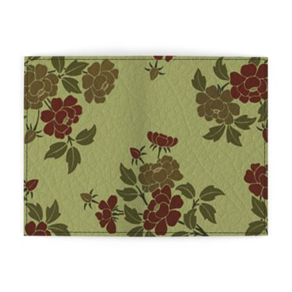 Passport Cover - Japanese flowers and leaves pattern Remaster