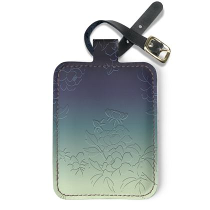 Luggage Tags - Japanese flowers and leaves pattern Engraved Remix