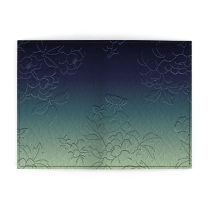Passport Cover - Japanese flowers and leaves pattern Engraved Remix