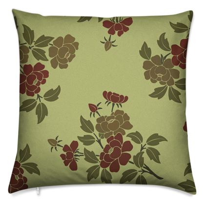 Cushions - Japanese flowers and leaves pattern Remaster
