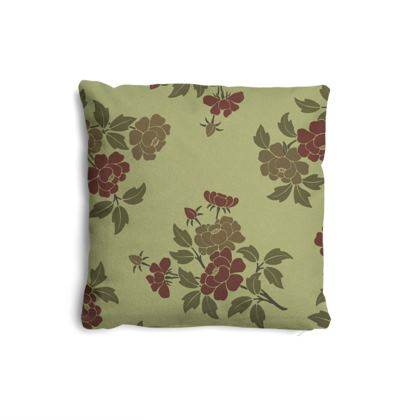 Pillows Set - Japanese flowers and leaves pattern Remaster