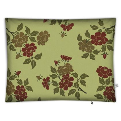 Floor Cushions - Japanese flowers and leaves pattern Remaster