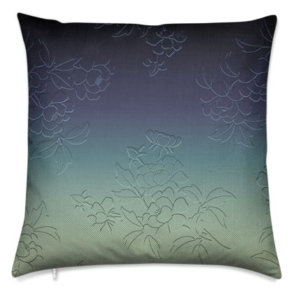 Luxury Cushions - Japanese flowers and leaves pattern Engraved Remix
