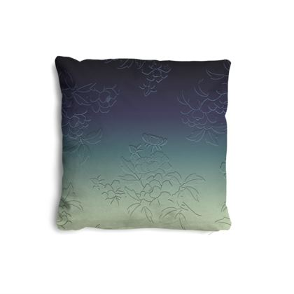 Pillows Set - Japanese flowers and leaves pattern Engraved Remix