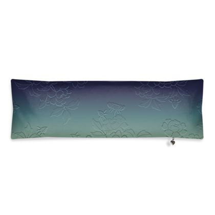 Bolster Cushion - Japanese flowers and leaves pattern Engraved Remix