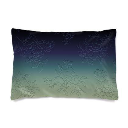 Pillow Case - Japanese flowers and leaves pattern Engraved Remix
