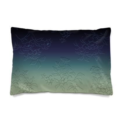 Pillow Case JAPAN - Japanese flowers and leaves pattern Engraved Remix
