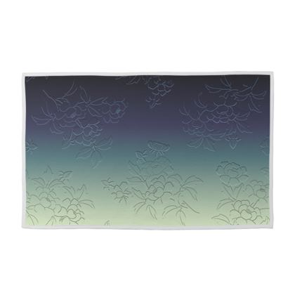 Towel Set - Japanese flowers and leaves pattern Engraved Remix