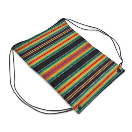 "Drawstring ""Backpack"" Bag – Serape-Print #6 Rasta"
