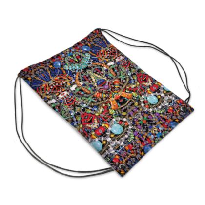 "Drawstring ""Backpack"" Bag Bead-Bomb #1"