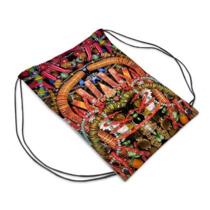 "Drawstring ""Backpack"" Bag Bead-Bomb #2"