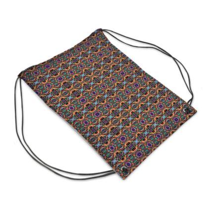 "Drawstring ""Backpack"" Bag – Bead-Bomb #3"