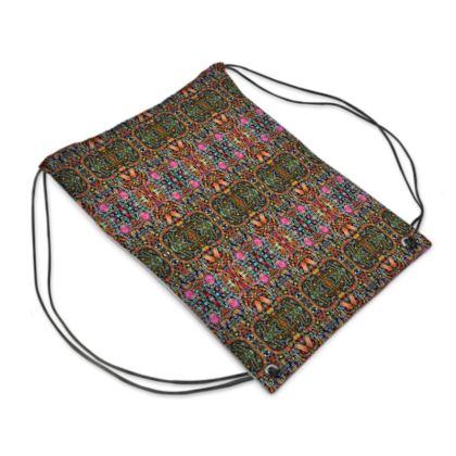 "Drawstring ""Backpack"" Bag – Bead-Bomb #5"
