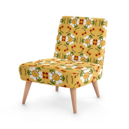 Pixel Flower Pattern Occasional Chair