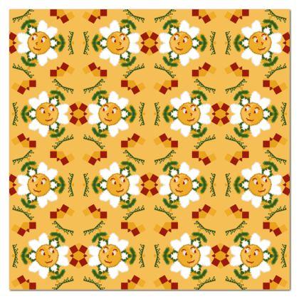 Pixel Flower Pattern Tablecloth