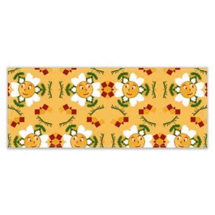 Pixel Flower Pattern Table Runner