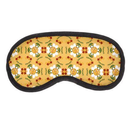 Pixel Flower Pattern  Eye Mask