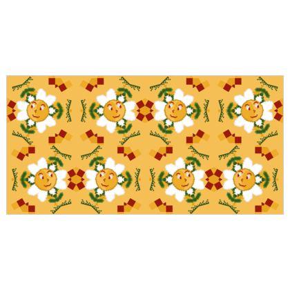 Pixel Flower Pattern Tapestry