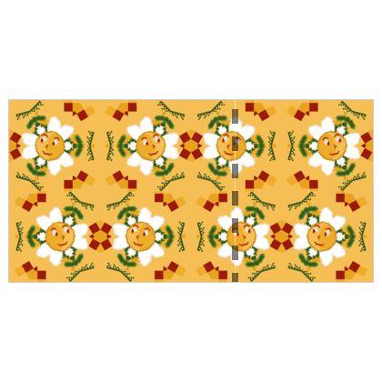Pixel Flower Pattern Wallpaper