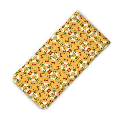 Pixel Flower Pattern IPhone Slip Case