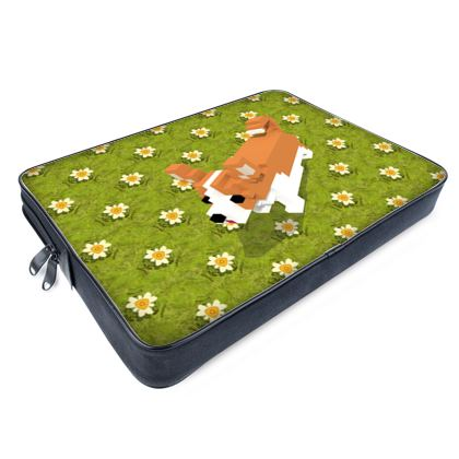 Voxel dog and the flowers Laptop Bags