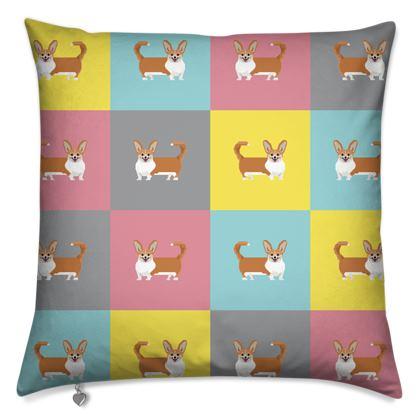 Cardigan Corgi Pattern Cushions