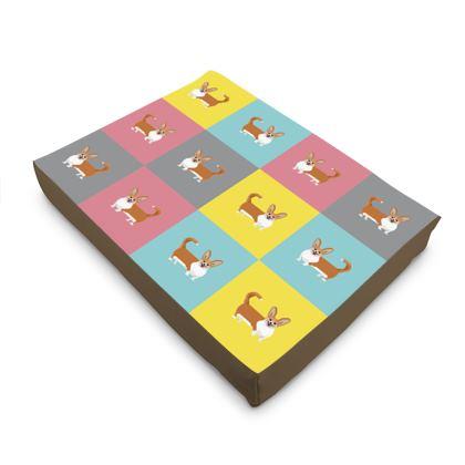 Cardigan Corgi Pattern Dog Pet Bed