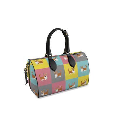 Cardigan Corgi Pattern Duffle Bag