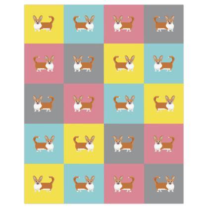 Cardigan Corgi Pattern Poster Prints