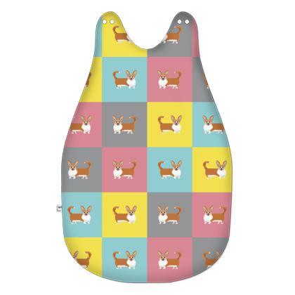 Cardigan Corgi Pattern Baby Sleeping Bag