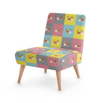 Cardigan Corgi Pattern Occasional Chair