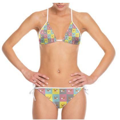 Cardigan Corgi Pattern Bikini