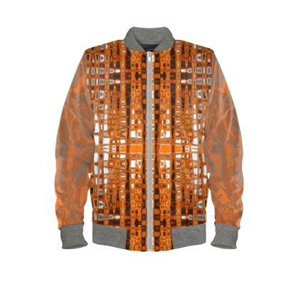 Mens bomber jacket orange topaz Range