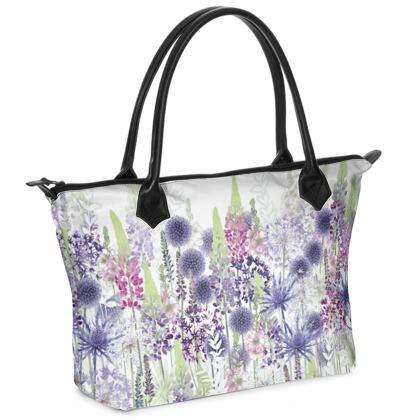 Flower Dance Zip Top Handbag