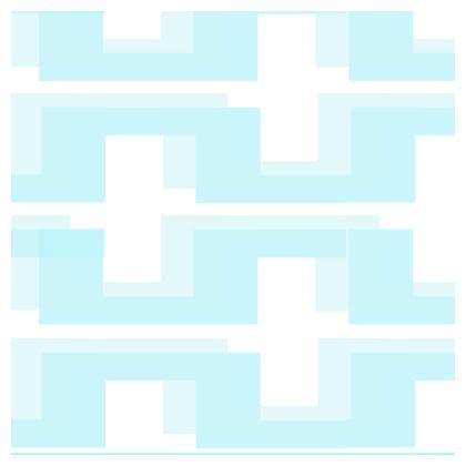 Pale blue Large Geometry China Plates