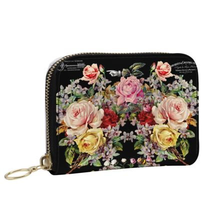 Small Leather Zip Purse Luxury Nuit des Roses